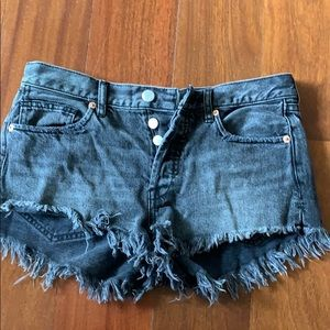 Free people black jean shorts